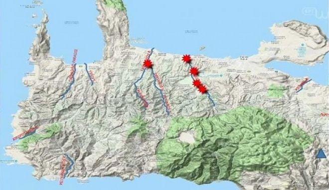 Αλλαγές στο ανάγλυφο της Κρήτης προκάλεσαν οι βροχές (βίντεο)