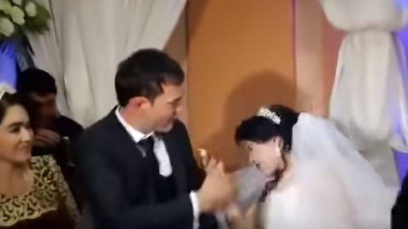Σοκαριστικό βίντεο: Γαμπρός χαστουκίζει άγρια νύφη επειδή… αστειεύτηκε με την τούρτα