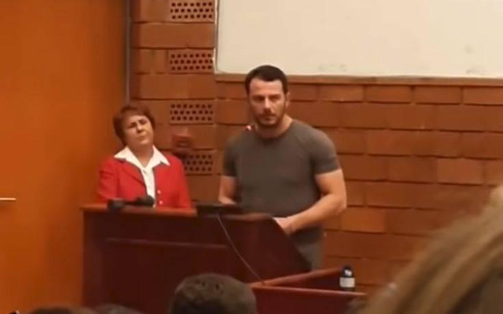 Ο Ντάνος μίλησε στο Πάντειο Πανεπιστήμιο και έγινε… το αδιαχώρητο