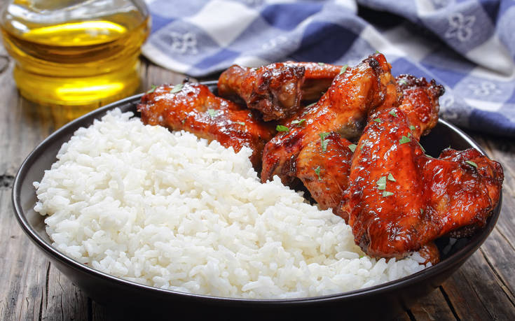 Φτερούγες κοτόπουλου με μέλι και τζίντζερ