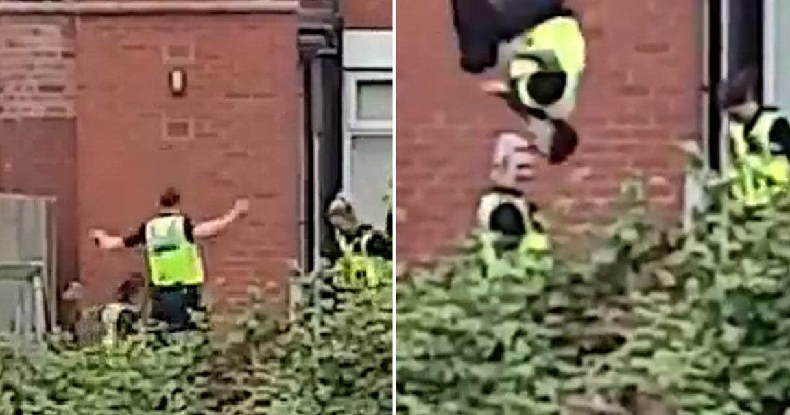 Αστυνομικός άφησε την έφοδο σε σπίτι για ναρκωτικά για να κάνει τραμπολίνο [φωτο]