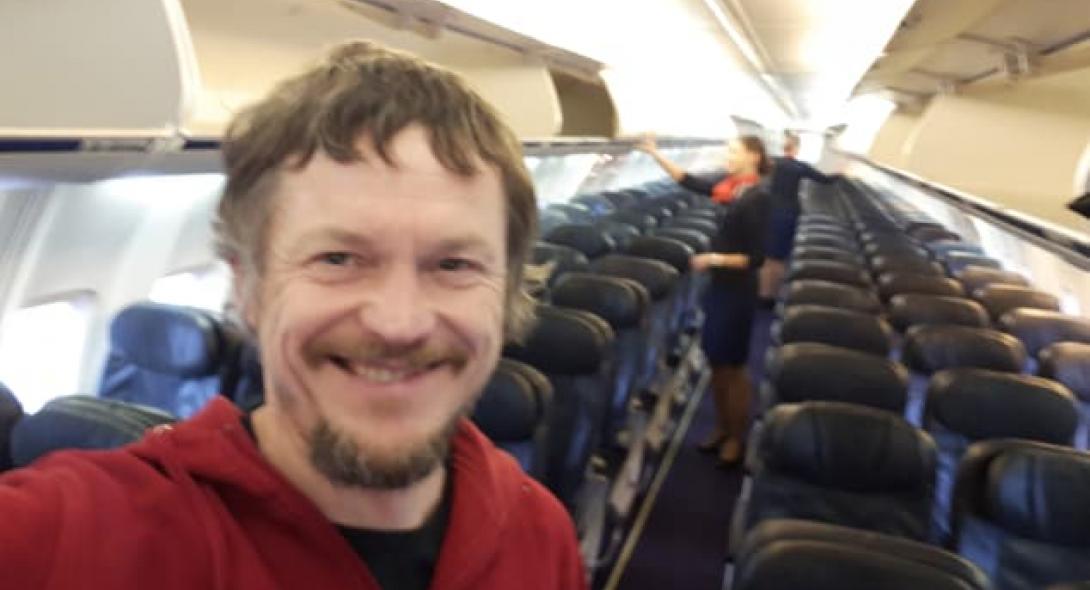 Ήταν ο μοναδικός επιβάτης σε Boeing 737, με 188 θέσεις