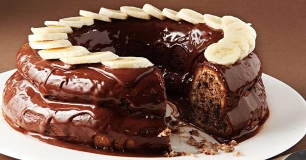 Συνταγή για σοκολατένιο μπανάνα κέικ