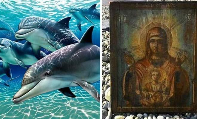 Ρωσία: Το θαύμα με τα 12 δελφίνια που έβγαλαν από τον βυθό εικόνα της Παναγίας