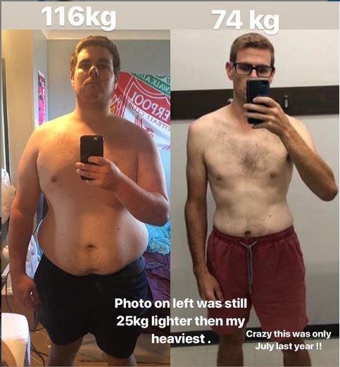 Έχασε πάνω από 70 κιλά μέσα σε 9 μήνες χάρη στα social media [φωτο]
