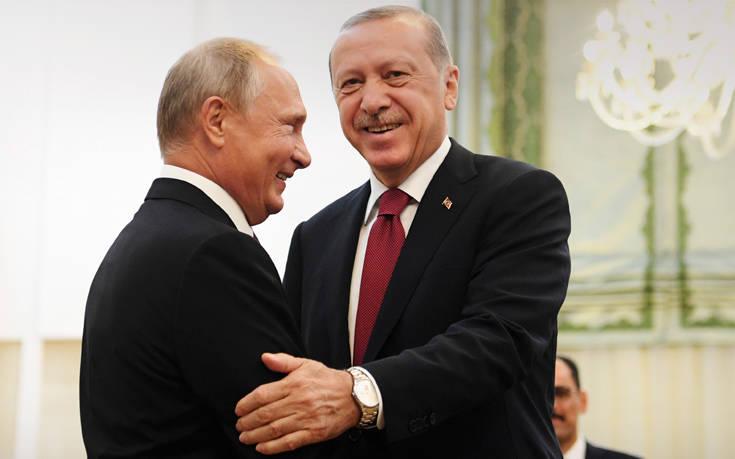 Συγχαρητήρια από τον Πούτιν στον Ερντογάν για το εκλογικό αποτέλεσμα