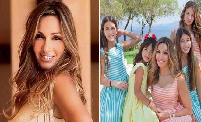 H Ελένη Πετρουλάκη με τις τέσσερις κόρες της είναι μια περήφανη μαμά
