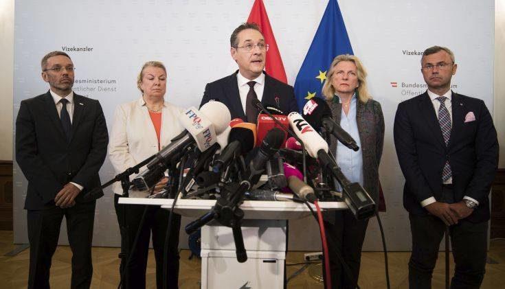 Σκάνδαλο στην Αυστρία: Πιθανές πρόωρες εκλογές μετά την παραίτηση του αντικαγκελάριου