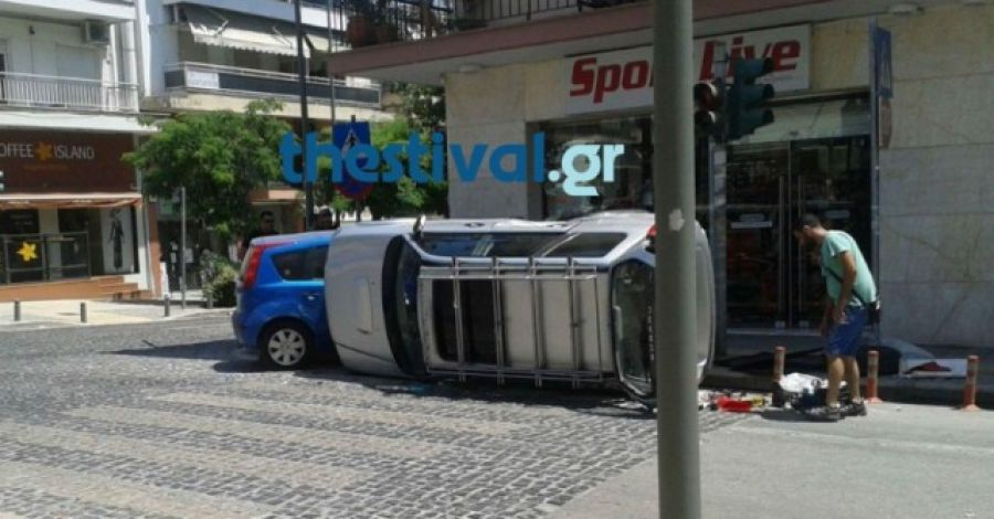 Συναγερμός στη Θεσσαλονίκη: Ι.Χ. έπεσε σε στάση του ΟΑΣΘ στο Κορδελιό