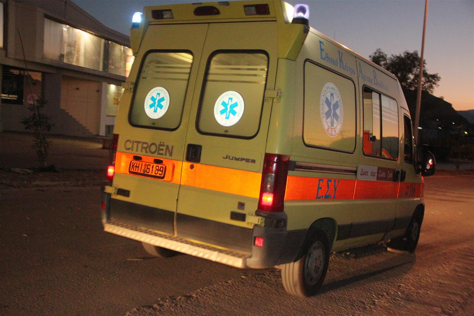 Νέο τροχαίο στην Κρήτη: Δύο σοβαρά τραυματίες
