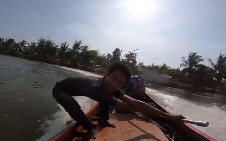 Ο νεαρός τιμονιέρης που κάνει τη βάρκα του να τον υπακούει ακόμα και στα 100 χλμ. την ώρα