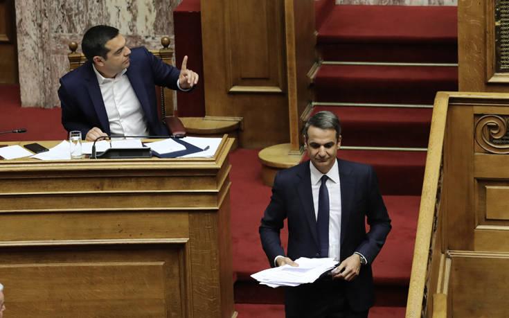 Κατά μέτωπο επίθεση Τσίπρα σε Μητσοτάκη στη Βουλή