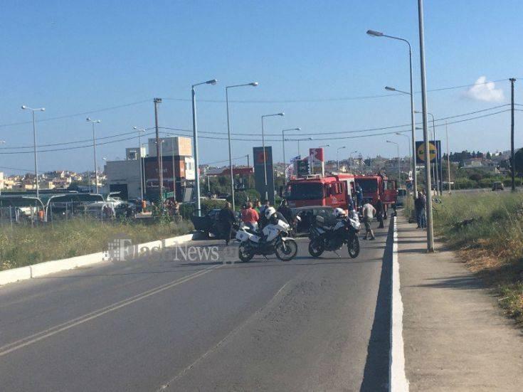 Θανατηφόρο τροχαίο στα Χανιά μετά από μετωπική σύγκρουση οχημάτων