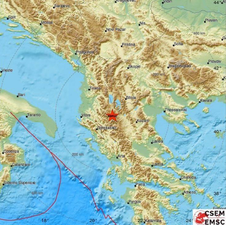Σεισμός δυτικά της Καστοριάς