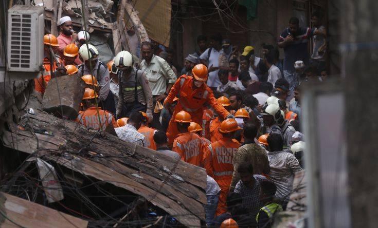Κατάρρευση κτιρίου στην Ινδία: Τέσσερις νεκροί, επτά τραυματίες, πάνω από 40 αγνοούμενοι