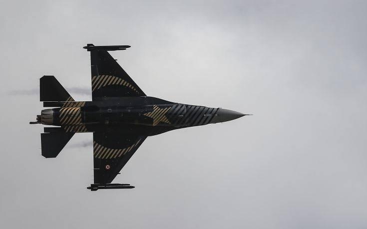 Μπαράζ παραβιάσεων του εθνικού εναερίου χώρου από τουρκικά F-16