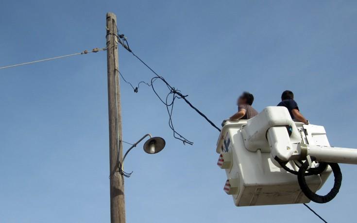 Αποκαταστάθηκε η ηλεκτροδότηση στις περιοχές που επλήγησαν από την κακοκαιρία
