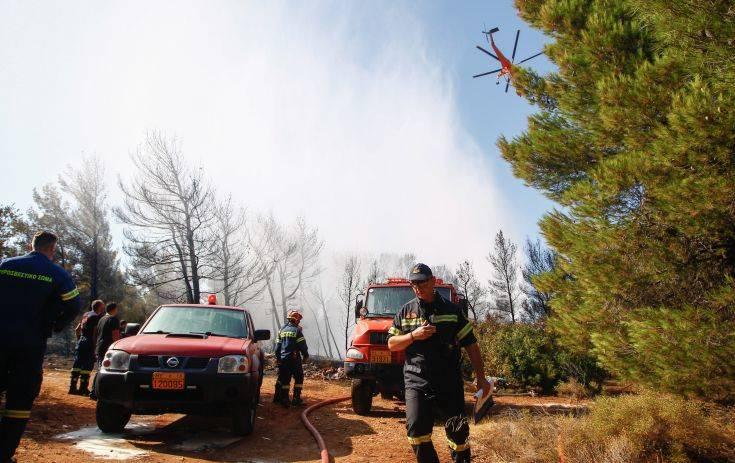 Πυρκαγιά στην περιοχή Παλιάς Περίθειας στην Κέρκυρα