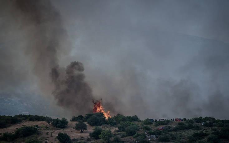 Πυρκαγιά ξέσπασε στο Μουζάκι Ζακύνθου