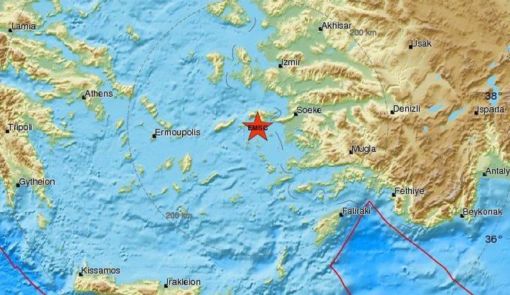 Νέος σεισμός τώρα στη Σάμο