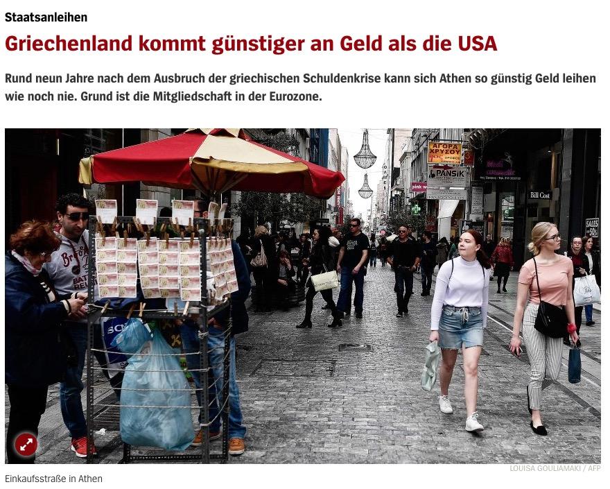 Spiegel Online: Η Ελλάδα δανείζεται φτηνότερα από τις Ηνωμένες Πολιτείες