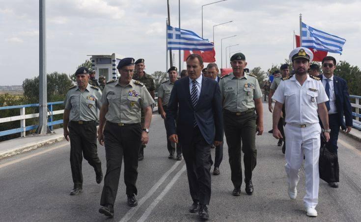 Μήνυμα Παναγιωτόπουλου από τα σύνορα: Η Ελλάδα είναι έτοιμη ανά πάσα ώρα και στιγμή