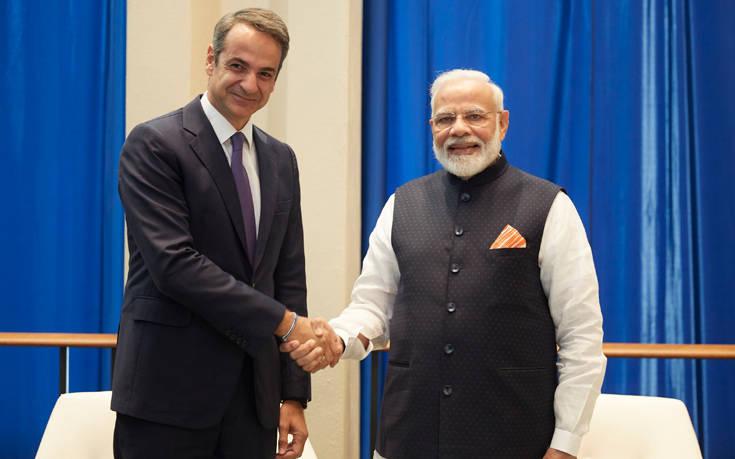 Η ενίσχυση των οικονομικών σχέσεων Ελλάδας-Ινδίας στο επίκεντρο συνάντησης Μητσοτάκη-Μόντι