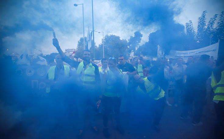 Πορεία διαμαρτυρίας ενστόλων στη Θεσσαλονίκη
