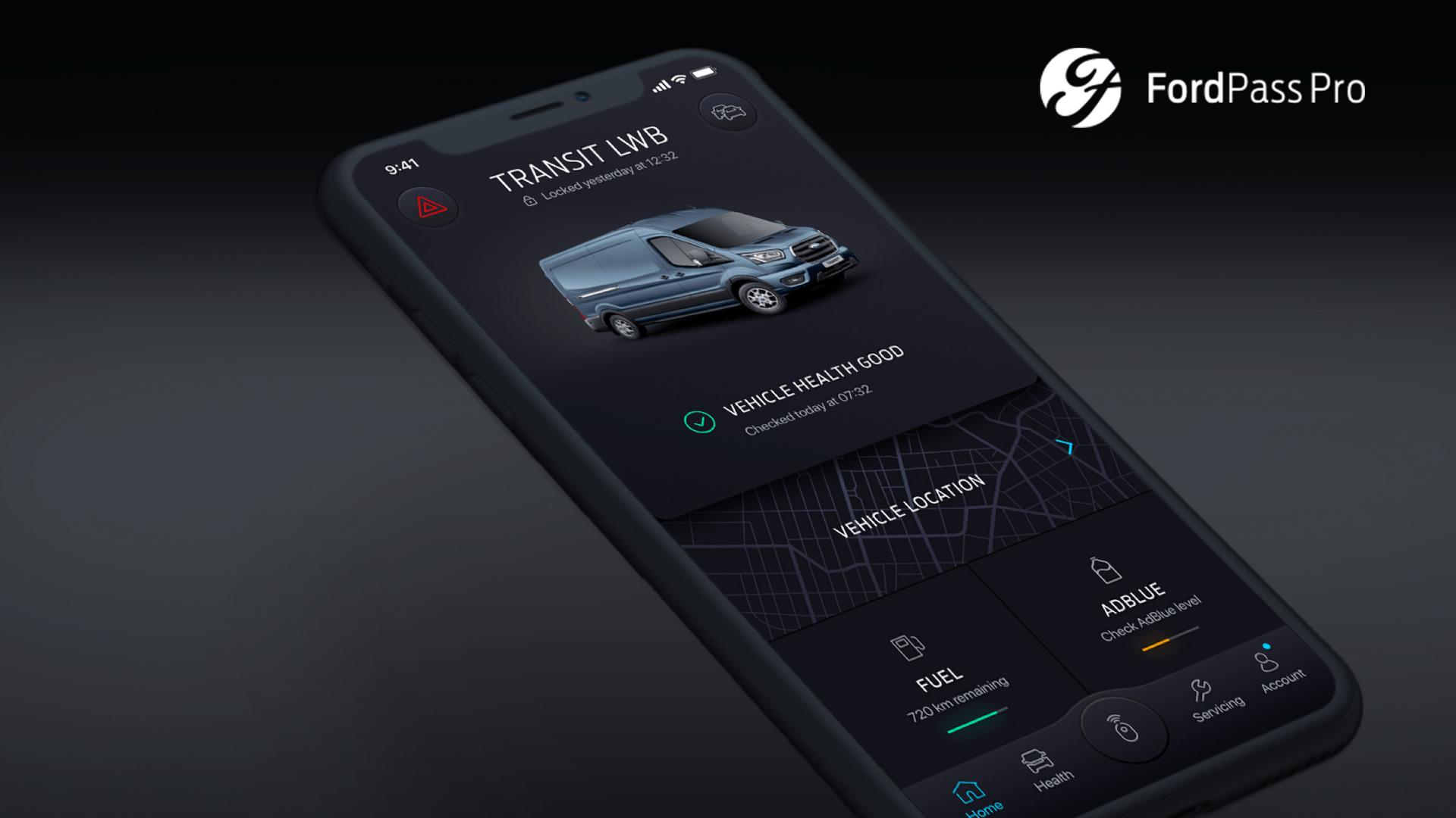 Νέα εφαρμογή της FordPass Pro συνδέει τους ιδιοκτήτες μικρών επιχειρήσεων με τα οχήματά τους