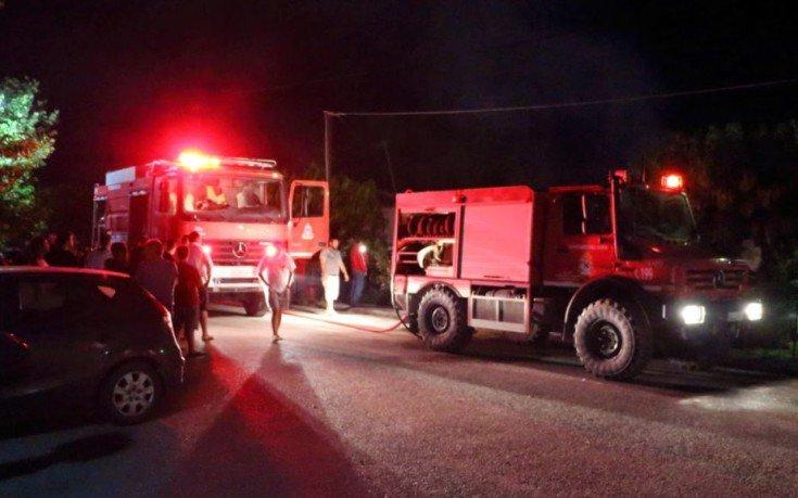 Φωτιά σε δίκυκλα στο Νέο Μαρμαρά Χαλκιδικής