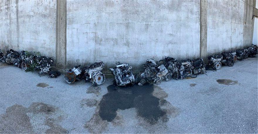 Θεσσαλονίκη: 164 κλεμμένοι κινητήρες βρέθηκαν σε τέσσερα συνεργεία αυτοκινήτων