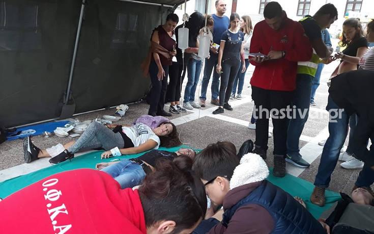 Θεσσαλονίκη: Άσκηση για τρομοκρατικό χτύπημα με πυροβολισμούς και τραυματίες