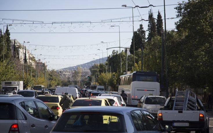 Μεγάλο μποτιλιάρισμα στο κέντρο της Αθήνας