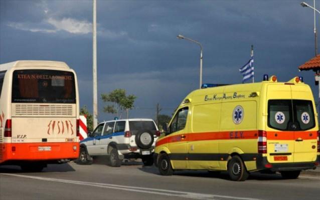 Τροχαίο με λεωφορείο του ΚΤΕΛ στην ε.ο. Θεσσαλονίκης-Έδεσσας – 12 τραυματίες