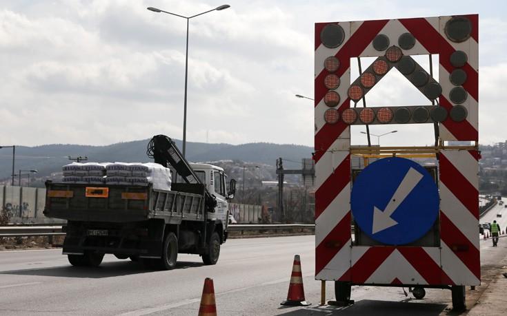 Κλείνει το βράδυ η εθνική οδός στο ύψος της Πιερίας και στα δύο ρεύματα