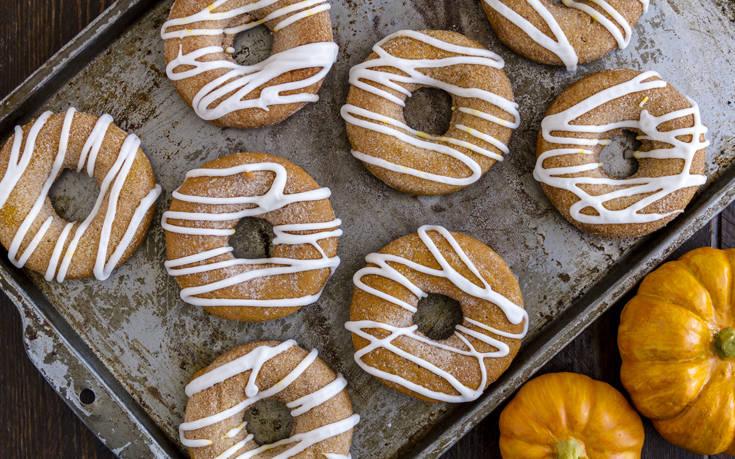 Αφράτα ντόνατς με κολοκύθα