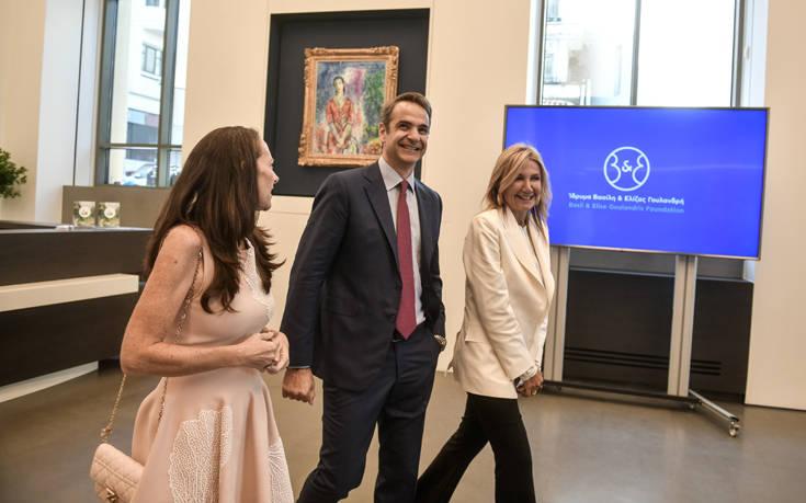 Κυριάκος και Μαρέβα Μητσοτάκη στα εγκαίνια του νέου μουσείου του ιδρύματος Γουλανδρή