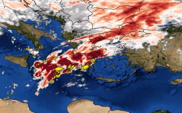 Η κακοκαιρία που σάρωσε την Ελλάδα από το διάστημα