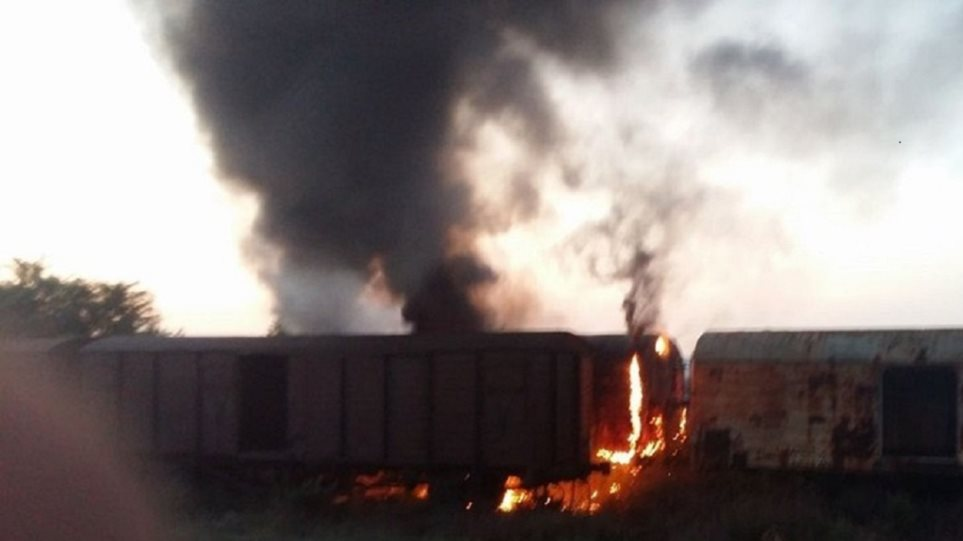 Θεσσαλονίκη: Φωτιά σε βαγόνια του ΟΣΕ – Καθυστερήσεις σε δρομολόγια