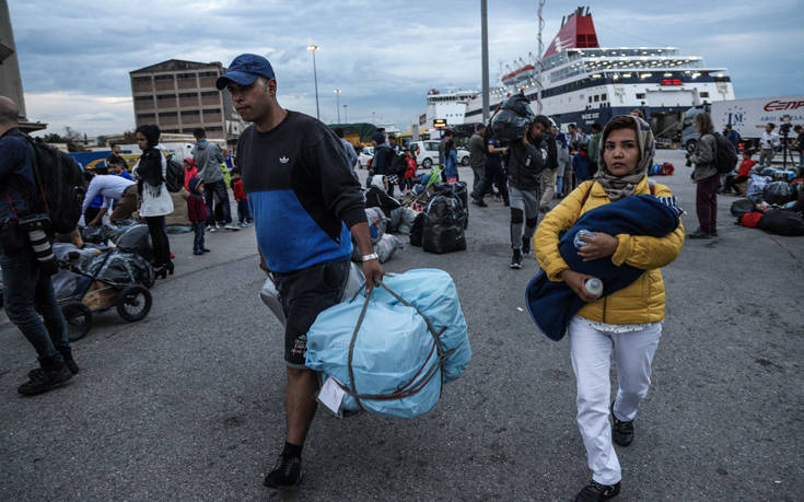Εβδομήντα δύο πρόσφυγες και μετανάστες σήμερα από τα νησιά στην ενδοχώρα