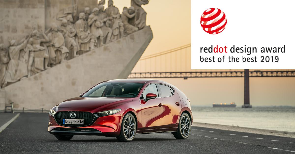 """Στο νέο Mazda3 το βραβείο Red Dot """"Best of the Best"""" 2019"""