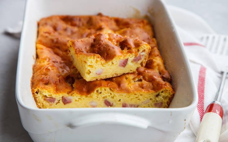 Κέικ με ζαμπόν και τυρί