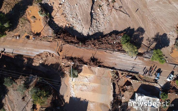 Δείτε το καταστροφικό πέρασμα της κακοκαιρίας Γηρυόνης στην Κινέτα από ψηλά
