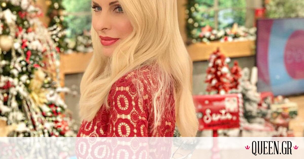 H Ελένη Μενεγάκη φόρεσε το κατάλληλο φόρεμα για να εντυπωσιάσεις στα Χριστουγεννιάτικα events