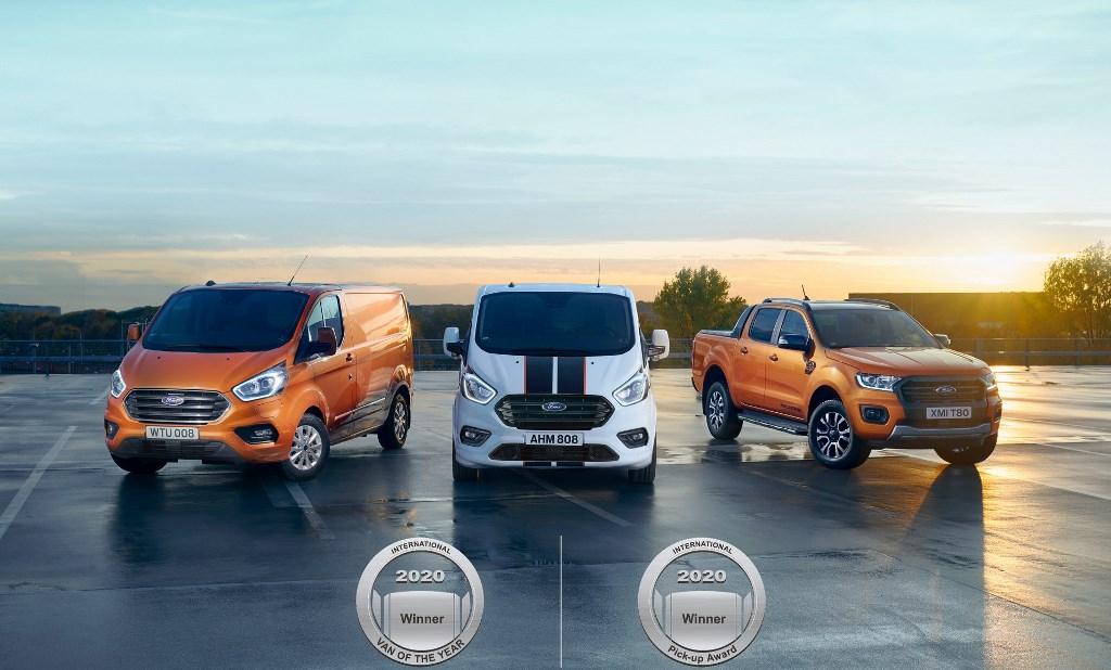 Διεθνείς διακρίσεις για τα Ford Transit Custom Plug-In Hybrid και τα EcoBlue Hybrid van
