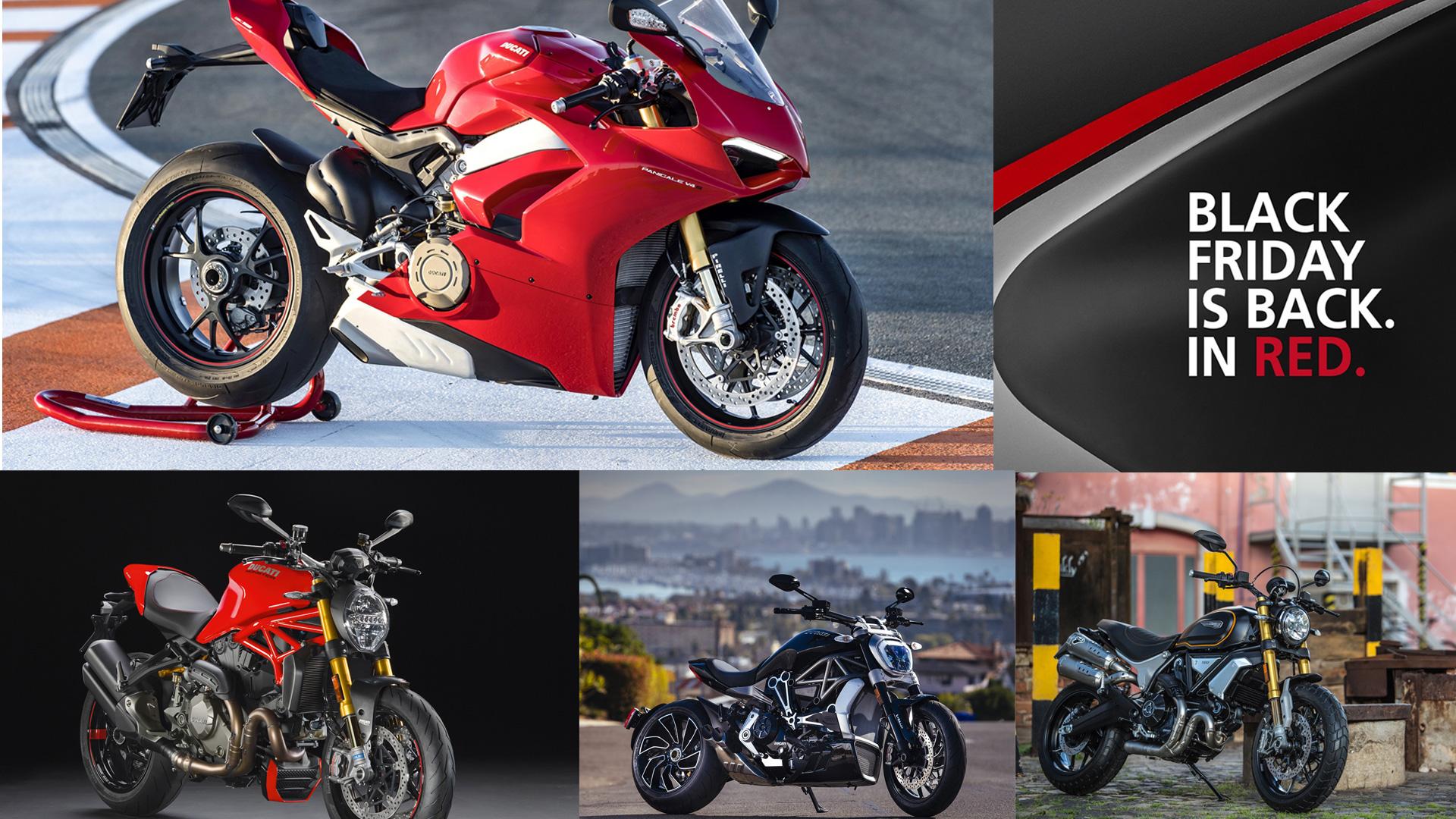 """Κατακόκκινη """"Black Friday"""" από τη Ducati"""