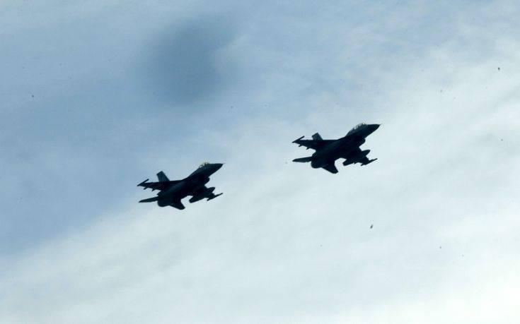 Τουρκικές υπερπτήσεις με F-16 σε Καστελόριζο και Ρω