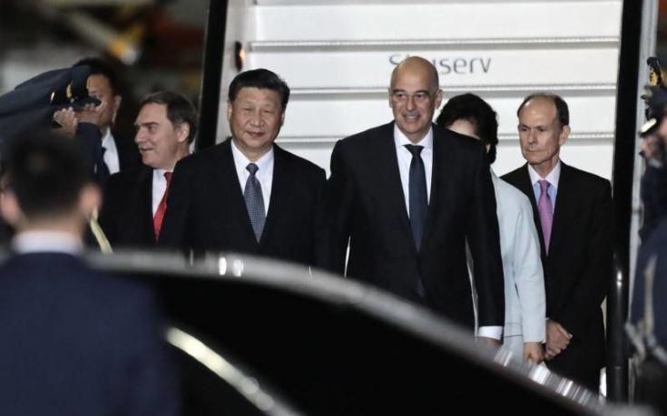 Έφτασε στην Ελλάδα ο ο Πρόεδρος της Κίνας Σι Τζινπίνγκ