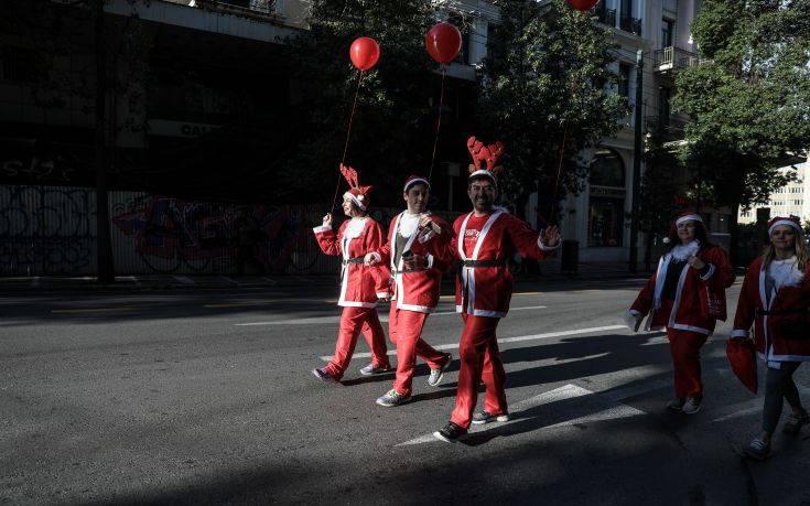 Κλειστοί οι δρόμοι στο κέντρο της Αθήνας για το «Santa Run»