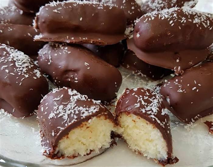 Καρύδες με Σοκολάτα !!!